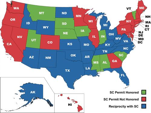 CWP Reciprocity South Carolina
